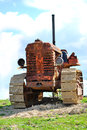 Crawler tractor old abandoned rusty Royalty Free Stock Photography
