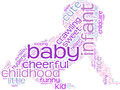 Crawling baby tag cloud illustration Royalty Free Stock Photos