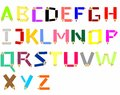 Crayon alphabet Royalty Free Stock Photography
