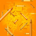 Crayon background - orange juice Stock Photos