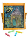 Crayon chalk Stock Photos