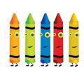 Crayon characters 1 Royalty Free Stock Photo