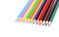 Crayon colour crayons on white background Stock Images