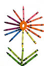 Crayon Flower Royalty Free Stock Photos