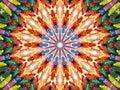 Crayon Kaleidoscope Stock Image