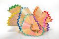 Crayon shavings back to school creative objects Royalty Free Stock Image