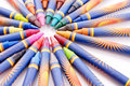 Crayon Spiral Royalty Free Stock Photos