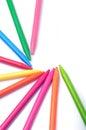 Crayon team Royalty Free Stock Photo