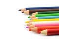 Crayon on a weight background Royalty Free Stock Image