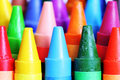 Crayons close-up. Royalty Free Stock Photo