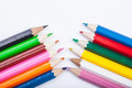 Crayons colorful on white background Stock Images