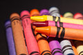 Crayons patterns of stacked in many colors Stock Photography