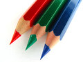 Crayons rgb wooden against white background Stock Image