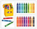 Crayons Set Royalty Free Stock Photo