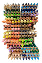 Crayons (Top View) Royalty Free Stock Photo