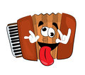 Crazy Accordion Illustration