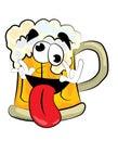 Crazy beer cartoon