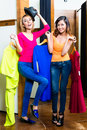 Crazy best friends having fun shopping Royalty Free Stock Photo