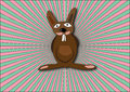 Crazy bunny colored background Royalty Free Stock Images