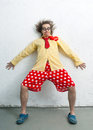Crazy clown Royalty Free Stock Photo