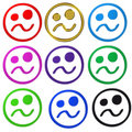 Crazy colorful smiley Royalty Free Stock Image