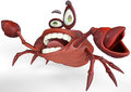 Crazy crab crazy life brown sugar is a funny character that will fit in any kind of sea and marine carton history or any Royalty Free Stock Images