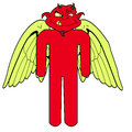 Crazy devil who is very angry Royalty Free Stock Image