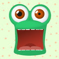 Crazy frog character is afraid Royalty Free Stock Photo