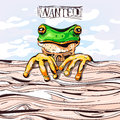 Crazy frog. Vector illustration Royalty Free Stock Photo