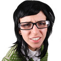 Crazy girl in glasses Royalty Free Stock Images