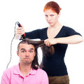 Crazy hairdresser Royalty Free Stock Photos
