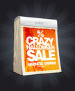 Crazy halloween sale design in form of calendar tear off eps Royalty Free Stock Photos