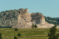 Crazy horse memorial early stages of chief with just his head and beginning pattern of his Stock Photos