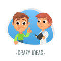 Crazy ideas medical concept. Vector illustration.