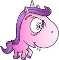 Crazy Insane Unicorn Pony Vector