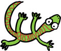 Crazy lizard Royalty Free Stock Photo