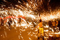 The crazy people each year during spring festival,the while iron is hot to spend here dragon dance very lively Stock Image