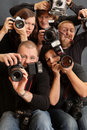 Crazy photographers Royalty Free Stock Image