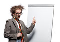 Crazy professor Stock Photo