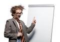 Crazy professor Stock Photo