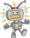 Crazy Robot Vector Illustration Royalty Free Stock Photo
