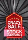 Crazy sale header design Stock Photo