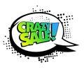 Crazy sale speech bubble banner