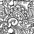 Crazy seamless pattern black and white vector background Stock Image