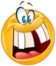 Crazy smile emoticon Royalty Free Stock Photo
