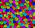 Crazy swirls Stock Images