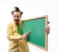 Crazy teacher Stock Photo