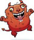 Crazy ugly devil a cartoon illustration of an looking Stock Images