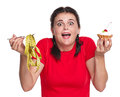 Crazy woman Royalty Free Stock Photo