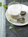Cream of artichoke soup Stock Photos